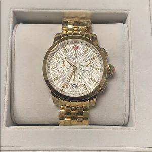 Michele Uptown Gold 28 Diamonds Bracelet Watch